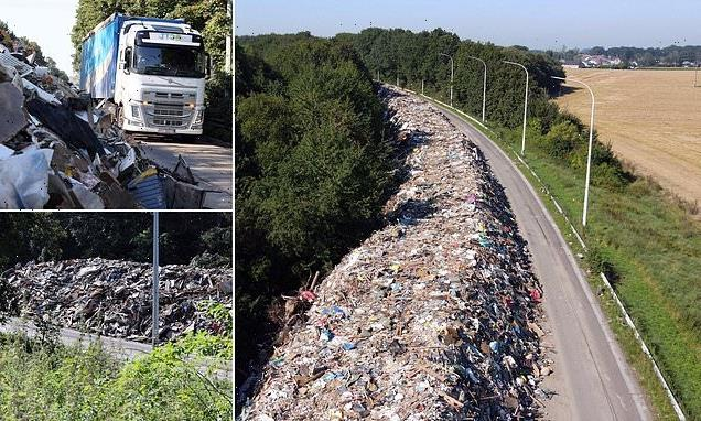 90,000 tonnes of garbage left along Belgian motorway after July floods
