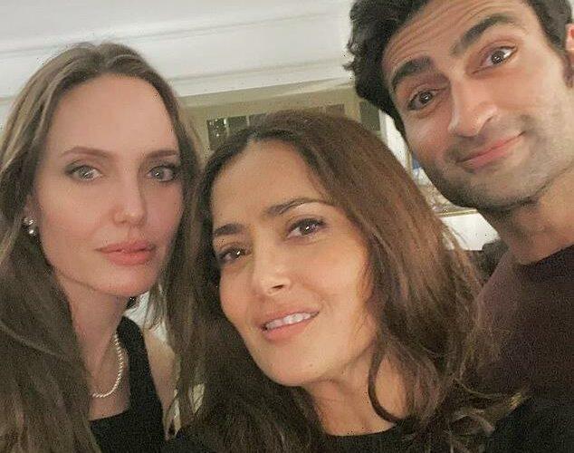 Angelina Jolie helped Salma Hayek celebrate her b-day with 'La Mordida'
