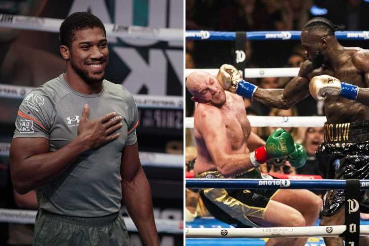 Anthony Joshua predicts 'obsessed' Deontay Wilder will KO Tyson Fury in trilogy fight and regain WBC world title