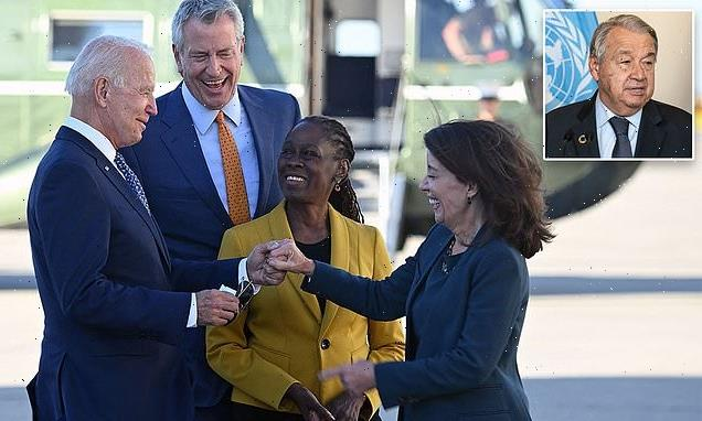 Biden arrives in New York for United Nations General Assembly meeting