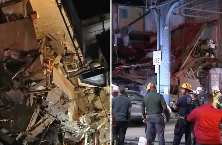 Building COLLAPSES in Philadelphia leaving at least two, 69 & 68, injured as rescuers scour rubble for more victims