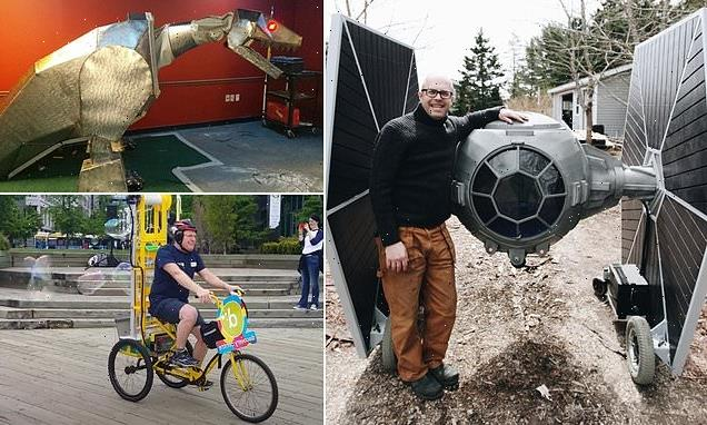 Canadian 'mad inventor' builds rideable TIE Fighter and flying broom