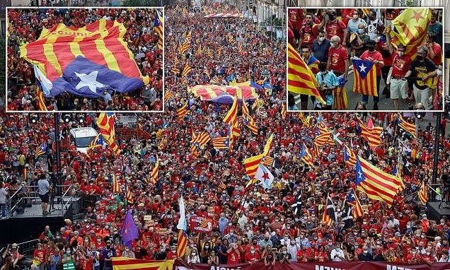 Catalan separatists hold first major gathering since pandemic began