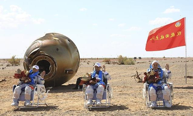 China's astronauts return to Earth after spending 90 days in space