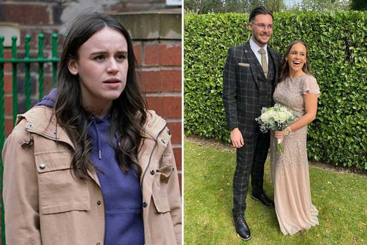 Coronation Street's Ellie Leach looks dramatically different as she glams up for a wedding