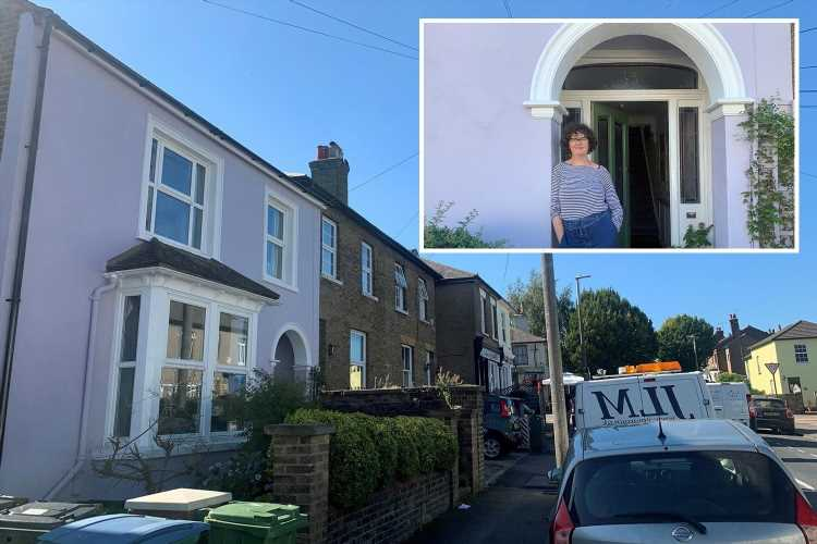 Couple could be forced to repaint their house after local council ruled the lilac colour they used was harmful