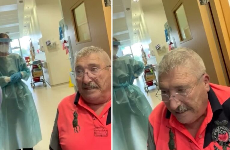 Covid sufferer, 75, persuaded to leave hospital by anti-vaxxers dies after doctors pleaded with him to stay