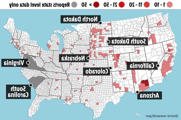Deadly spread of West Nile Virus that's killed 19 across America revealed in chilling map
