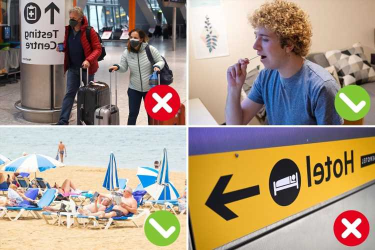Everything you need to know about travel rule changes from green list changes to PCR test scrapped