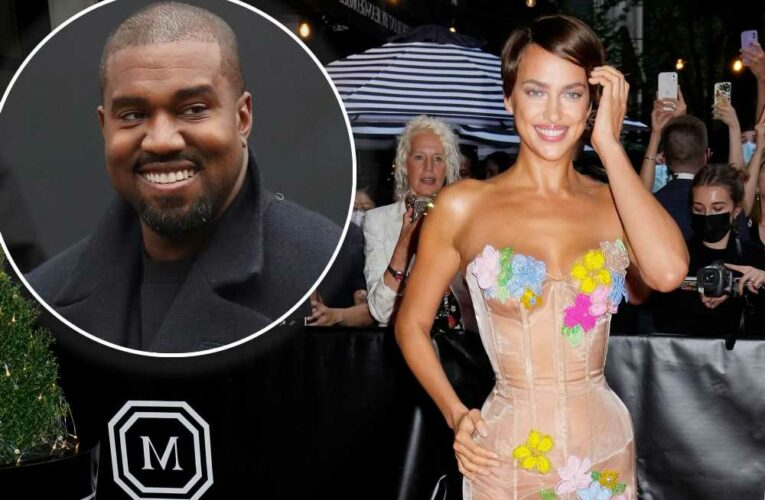 Irina Shayk stays tight-lipped when asked about Kanye West fling