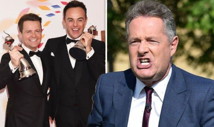 'It's actually cheating' Piers Morgan rages over Ant and Dec's NTAs wins amid 2021 battle
