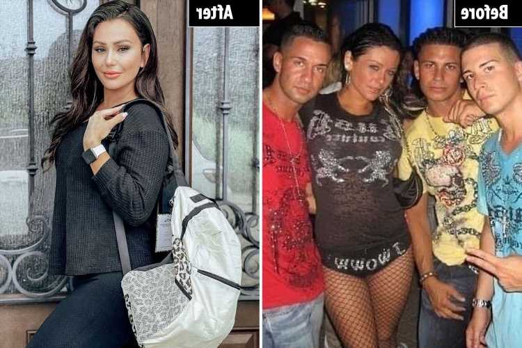 Jersey Shore's Jenni 'JWoww' Farley looks unrecognizable in throwback photo with co-stars after plastic surgery rumors