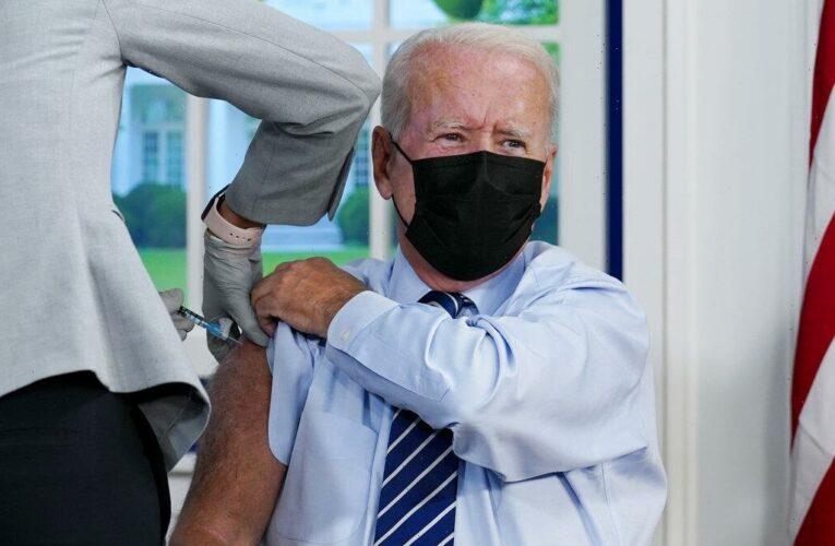Joe Biden Gets Covid Vaccine Booster Shot Live On Camera