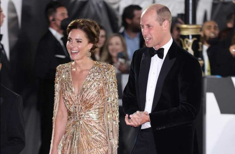 Kate Middleton and Prince William appear with Daniel Craig on red carpet for premiere of Bond film No Time To Die