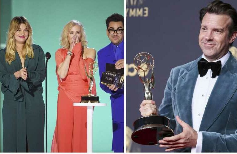 Kate Winslet Love! 'Ted Lasso' Sweeps! Best Moments From the Emmys