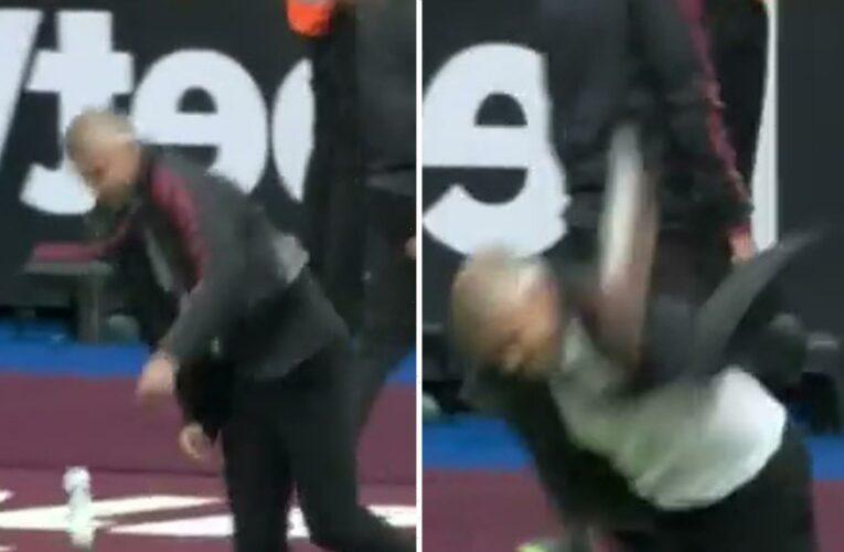 Man Utd fans love Ole Gunnar Solskjaer channelling his inner Jose Mourinho after slamming bottle against West Ham
