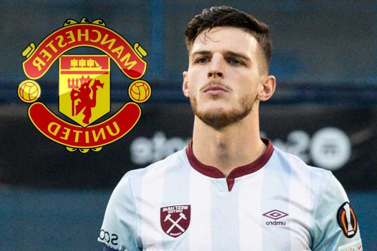 Man Utd 'make Declan Rice No1 summer transfer target' as they prepare to go to war with City over £100m West Ham star
