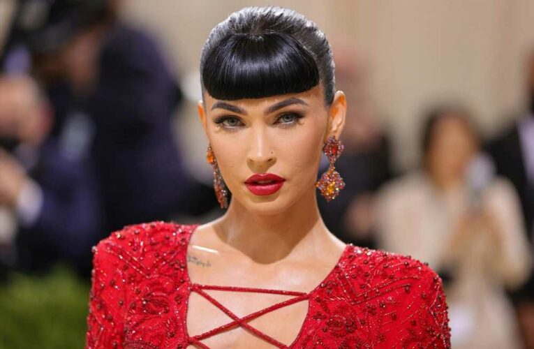 Megan Fox is all laced up in red-hot gown on 2021 Met Gala red carpet