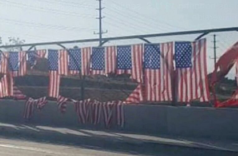 Memorial for 13 troops killed in Kabul terror attack is vandalized with US flags RIPPED APART before 9/11 anniversary