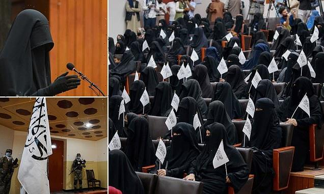 Pro-Taliban Afghan women attend lecture at Kabul university