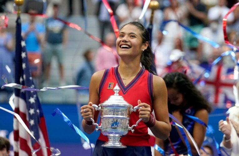 Queen leads tributes as Emma Raducanu celebrates US Open success