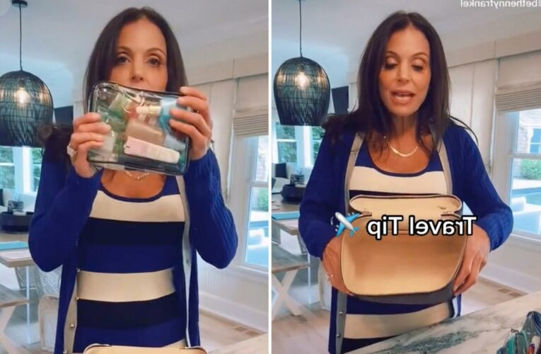 RHONY alum Bethenny Frankel shares her packing hack to save space and you'd be shocked with how easy it is