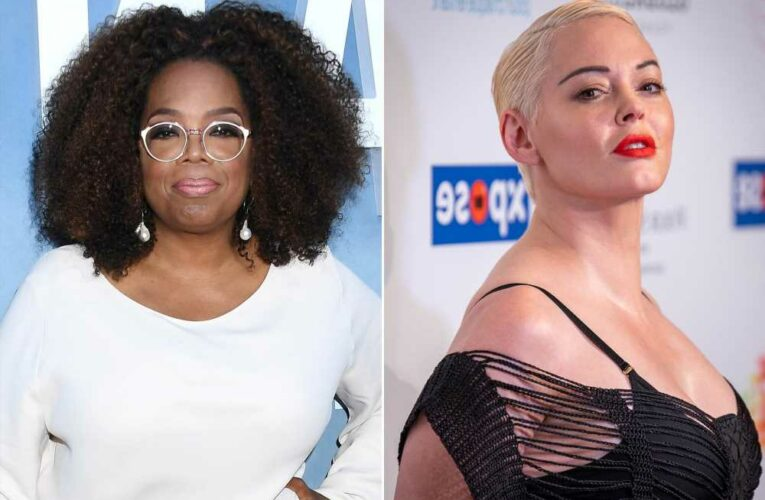 Rose McGowan brags about dropping 'bombs' after branding Oprah 'fake'