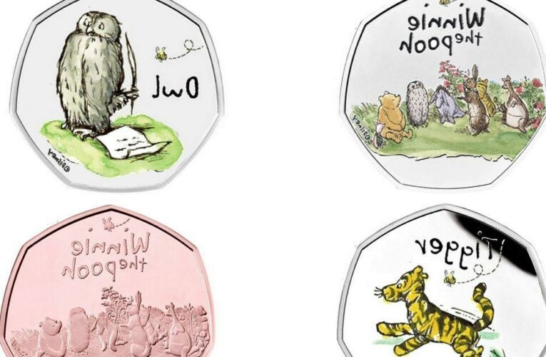 Royal Mint launches new 50p coin to mark 95 years of Winnie the Pooh and Friends