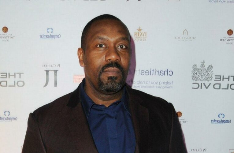 Sir Lenny Henry looks slimmer than ever as he cosies up to girlfriend Lisa Makin