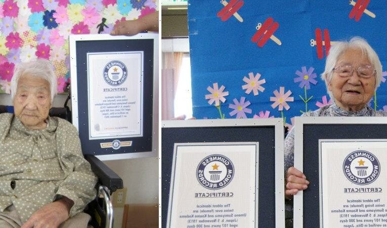 Sisters certified as world's oldest twins at 107 years and 300 days