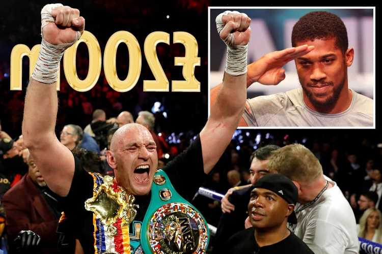 Tyson Fury cheering on rival Anthony Joshua in battle with Usyk to set up £200m British fight showdown