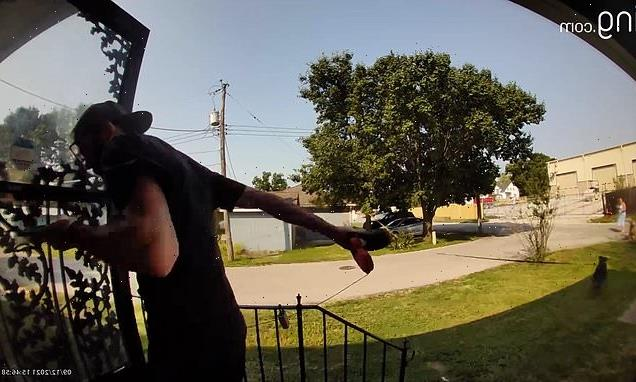 VIDEO: Man thrown into air with by his pet dog in Kansas City