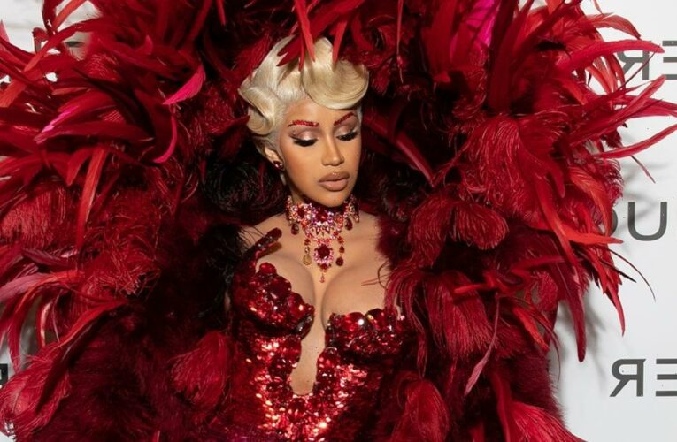 Va-Va-Voom! Cardi B Looks Luxe in Her First Public Appearance Since Giving Birth