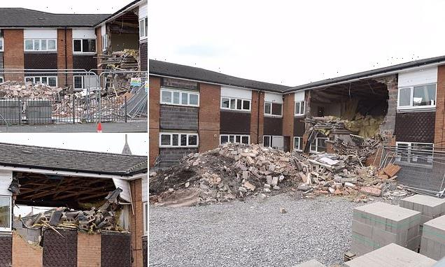 Wall and roof collapses at flats construction site in North Wales