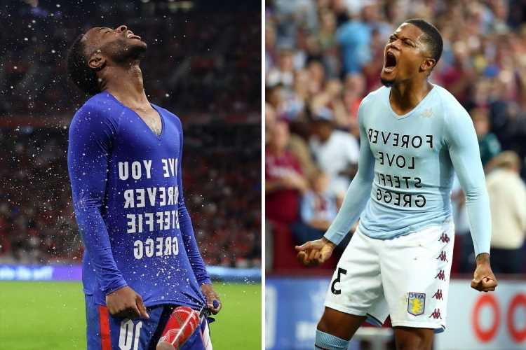 Who is Steffie Gregg and why did Leon Bailey and Raheem Sterling reveal shirts with her name on after goals?