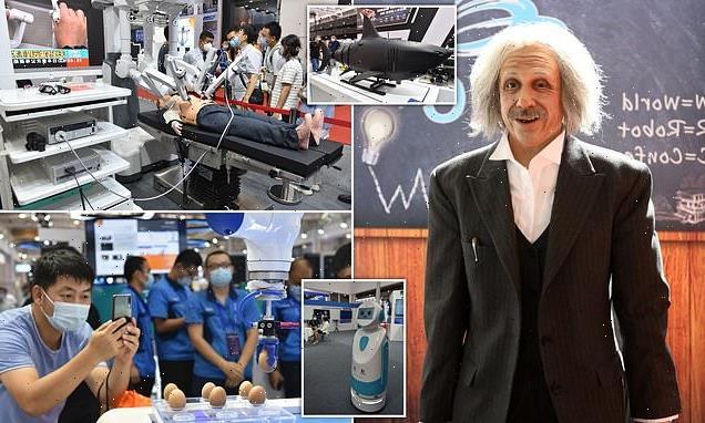 World Robot Conference in Beijing debuts a Chinese-speaking Einstein