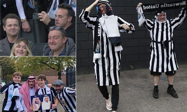 Ant and Dec join Newcastle fans at St James' Park