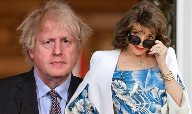 Boris Johnson must 'comb his hair with an egg beater' mocks Joan Collins