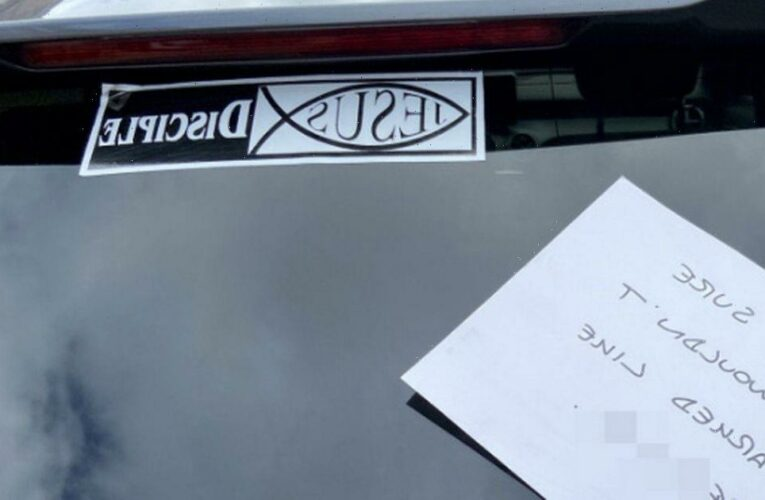 Christian driver savaged by car note saying 'Jesus wouldn't park like bell***'