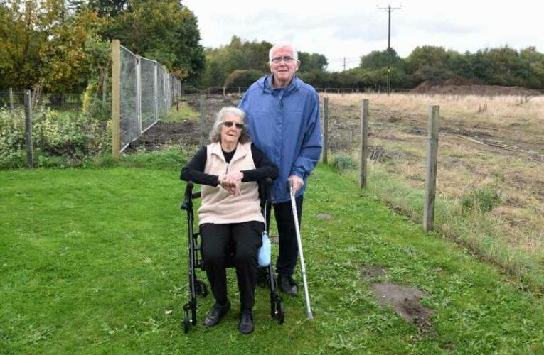 Couple in battle to stop developer taking 10ft of land in their garden to build new housing estate