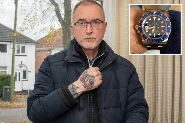 Heartless robbers beat cancer survivor on driveway before stealing his £10k Rolex he bought to celebrate beating illness