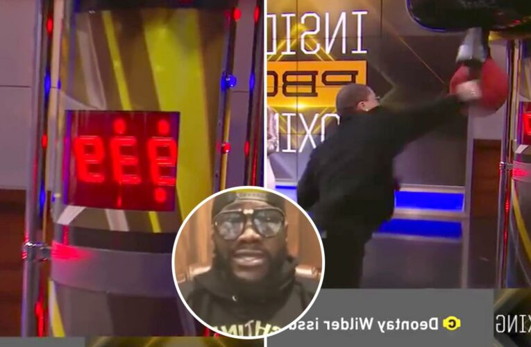 KO king Deontay Wilder says he's put all his trainers in hospital… but was beaten in punchbag challenge by LIGHTWEIGHT