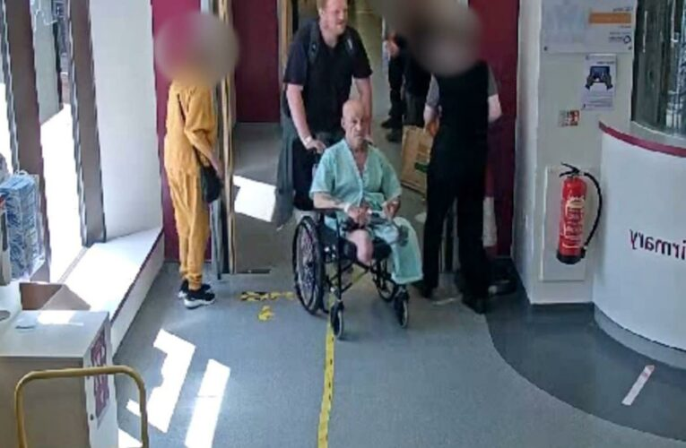 Robber pretends to help double amputee by wheeling him out of hospital – so he can mug him in the car park