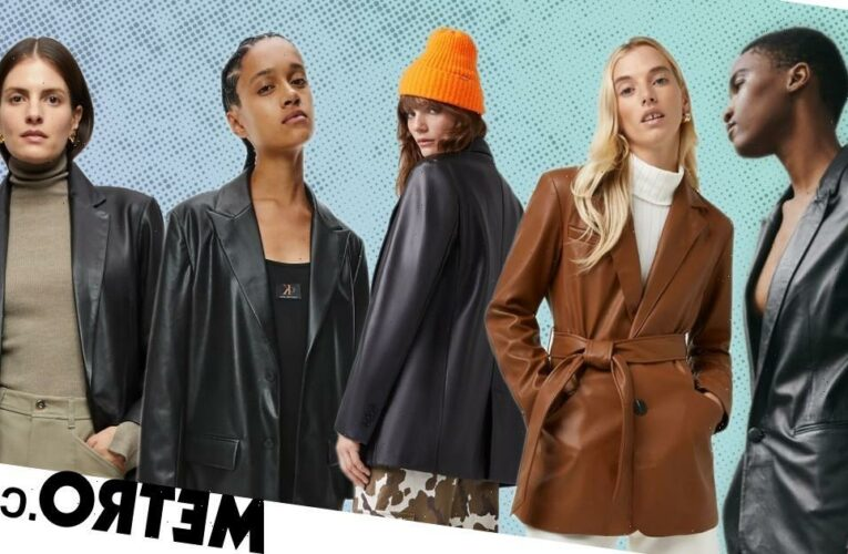 The best leather blazers and coats to buy right now