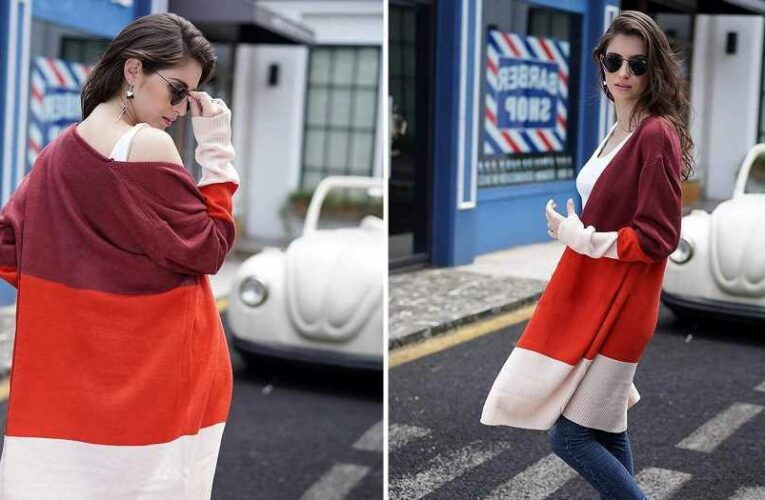 This Color-Block Cardigan Will Seriously Level Up Your Cozy-Cute Outfits