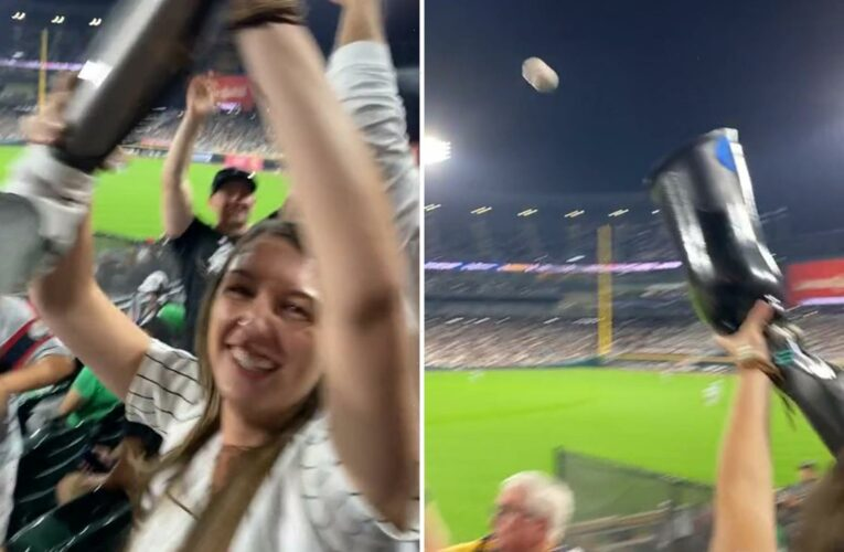 Watch amazing moment woman catches baseball in her prosthetic LEG at MLB game after downing five pints