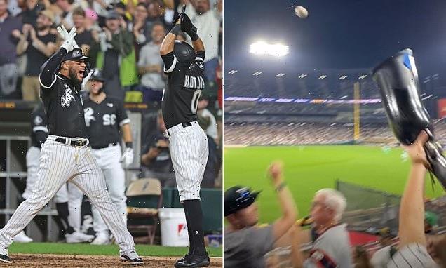 White Sox fan catches homerun ball using friend's prosthetic leg
