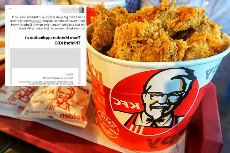 Woman furious as KFC turns her down for 'not having enough experience' – despite having worked there for 2 years